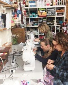 Naailes Volwassenen Beginners Atelier MooiZO Creatief Centrum Texel